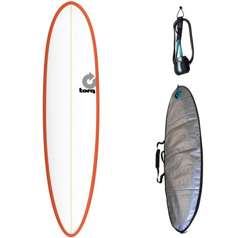 PACK DÉBUTANT SURF TORQ 7'6 MOD FUN + HOUSSE + LEASH