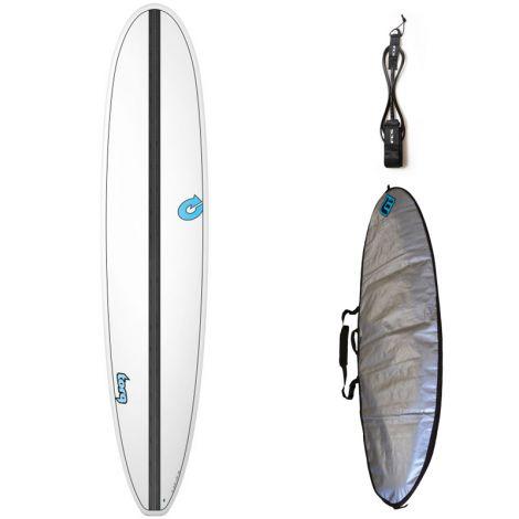 PACK LONGBOARD SURF TORQ TET-CS 9'0 + HOUSSE + LEASH
