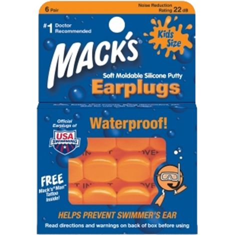 BOUCHONS D'OREILLES MACK'S MOLDABLE SILICONE EAR KID
