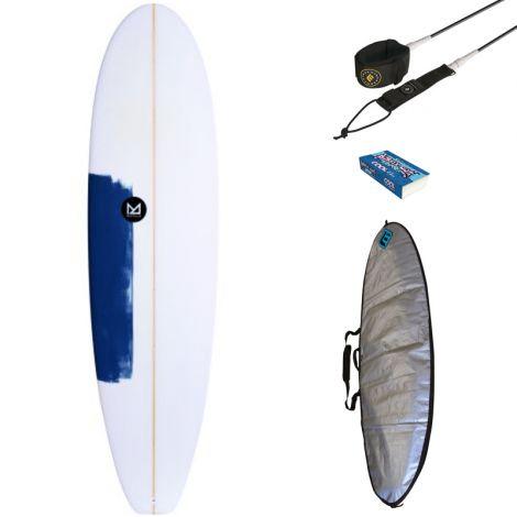 PACK SURF MAHALO 6'8 KEANU + HOUSSE + LEASH + WAX