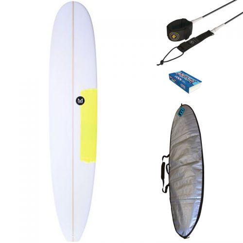 PACK DÉBUTANT SURF MAHALO 9'0 FAANA + HOUSSE + LEASH + WAX