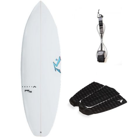 PACK SURF RUSTY 5'10 DWART TOO + PAD + LEASH