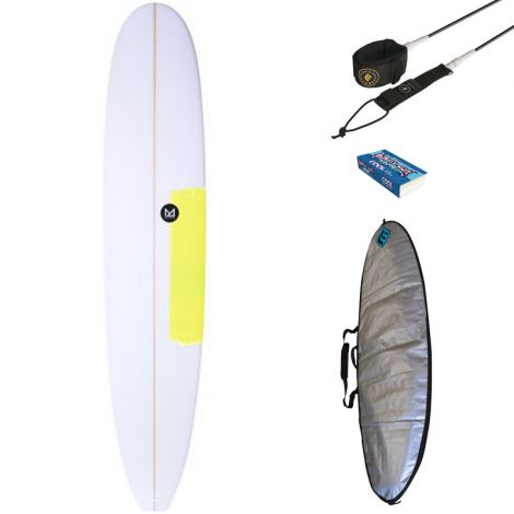 PACK DÉBUTANT SURF MAHALO 9'0 FAANA + HOUSSE + LEASH + WAX
